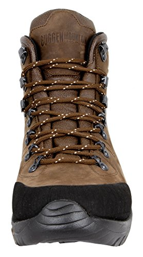 GUGGEN MOUNTAIN Los hombres zapatos de senderismo botas de trekking Montanismo Botas de montana impermeable con suela de Vibram HPM50 Marron