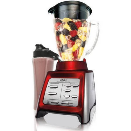 Oster Designed for Life 7-Speed Corded Electric Plastic Blender with Smoothie Cup and Electronic Pre-Programmed Settings and Pulse - (Pre Programmed Card)