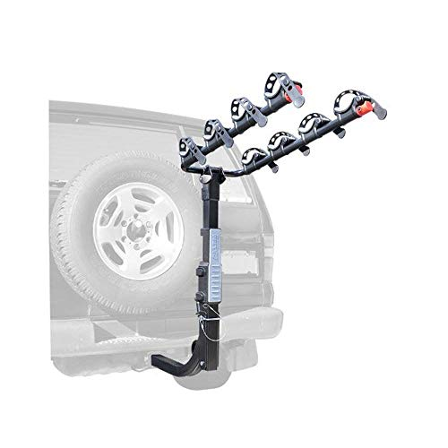 Allen Sports Premier Hitch Mounted 4-Bike Carrier for Vehicles with External Spare Tires, Model S645 (2005 Jeep Grand Cherokee Spare Tire Carrier)