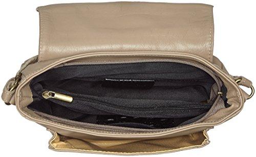 Gris fabriqué véritable à Cm Fango CTM italien cuir petit en L'embrayage molle Italie en bandoulière 24x16x8 de sac femme la wnxUvOqTn
