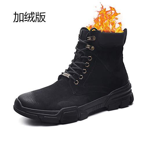 LOVDRAM Stiefel Männer Winter Warme Beiläufige Schuhe Schuhe Schuhe Mode Für Männer Dicke Hohe Schuhe Leder Kalte Baumwolle Schuhe Casual Männer Schuhe f7199e