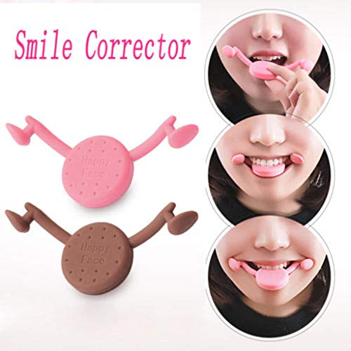 Gotian Helpful Smile Corrector Improve mouth face-lift Happy Face Trainer Sweet Smile Exercise, Helps You Smile Naturally and Beautifully (Pink)