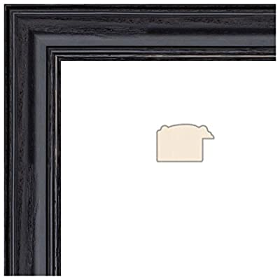 Picture Frame Black Stain on Solid Red Oak .. 1.25'' wide