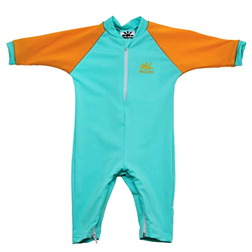 Nozone Fiji Sun Protective Baby Swimsuit in Aquatic/Papaya, 24-36 Months