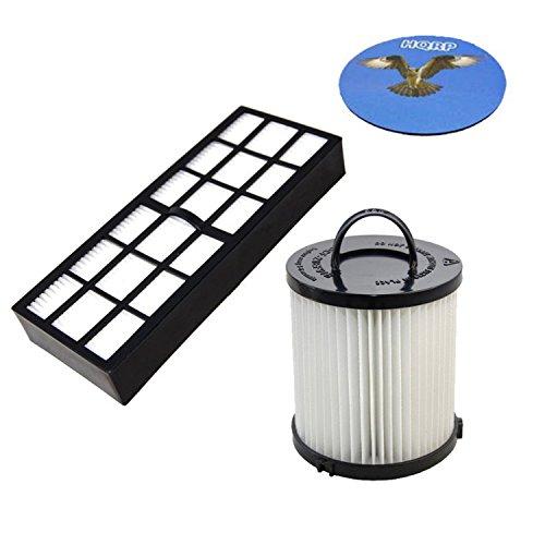 HQRP Filter Kit for Eureka Whirlwind 3272AV / Whirlwind Plus 3277AVZ 3277AVZX 3279AZ 3282AVZ Upright Vacuum Cleaner Coaster