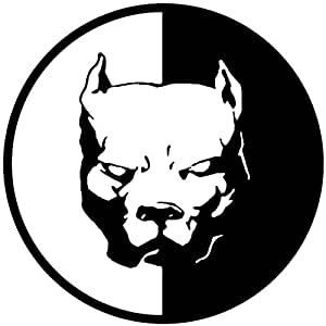 12-12CM PITBULL SUPeR HeRO DOG Fun Dog Personalized Car Stickers Decals Black