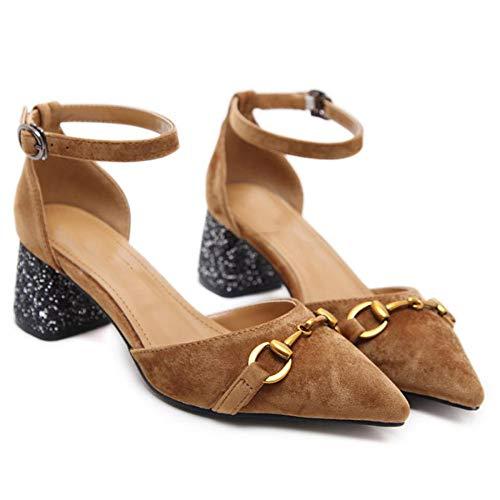 Plateforme En Marron Bas Daim Pour D't Femmes Chaussures Talons Espadrilles Avec Mocassins Pantoufles Plates 46nRqWwXH