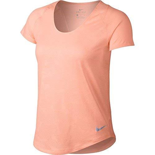 Price comparison product image NIKE Women's 10k Jacquard Running Top (Crimson Tint,  M)