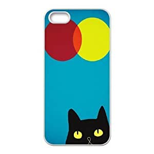 Cat, Sun and Moon Design Discount Personalized Hard Case Cover for iPhone 5,5S, Cat, Sun and Moon iPhone 5,5S Cover Kimberly Kurzendoerfer