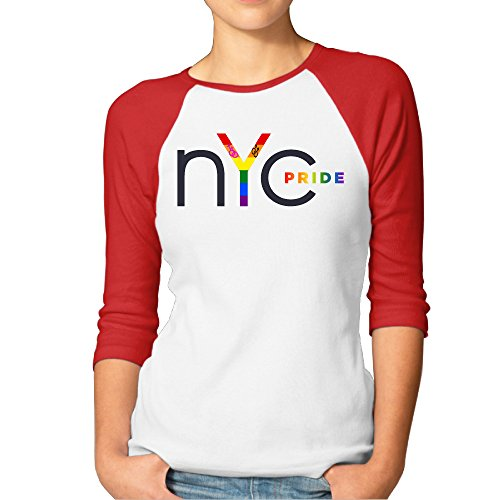pride-parade-nyc-gay-2016-women-3-4-sleeve-t-shirt-red
