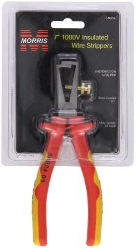 1000 Volt Ergonomic Cushion Grip Safety Wire Strippers 7'' (Pkg of 2)