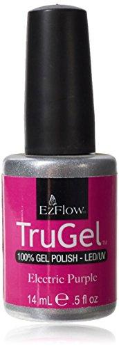 EZ Flow 1st Launch Electric Purple Gel Polish, 0.5 Fluid Ounce