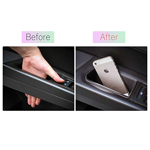 (LFOTPP Accessories for 2015-2018 Mini Cooper F56 Car Front Interior Car Door Side Storage Pallets Armrest Container Box Cover Kit Trim Handle Pocket Armrest Phone Container)