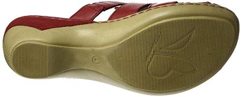 Tacco Da 5 Zeppa Rossa Rosso Donna Caprice Sandali 27300 Con nappa 5 anqwxqS14