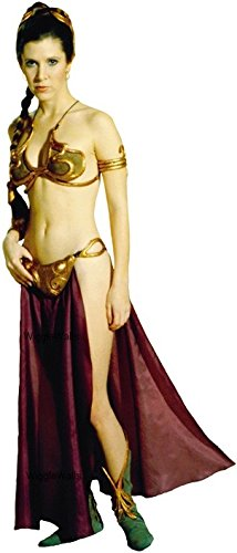 9 Inch Princess Leia Organa Jabba's Slave Girl Outfit Rebel Alliance Star Wars Return of the Jedi Episode VI 6 Removable Wall Decal Sticker Art Home Decor Kids Room-4 Inches Wide By 9 1/2 Inches Tall -