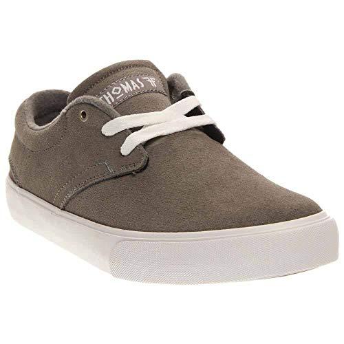 Fallen Men's Spirit Skate Shoe, Cement Grey/White, 8 M US