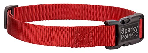 Bark Sonic Control Ultralight (Sparky PetCo 3/4 Solid Nylon PetSafe Compatible Replacement Strap For Petsafe Bark Collars-PBC00-13974, PBC00-13935, PBC00-12789, PUSB-300 (RED))