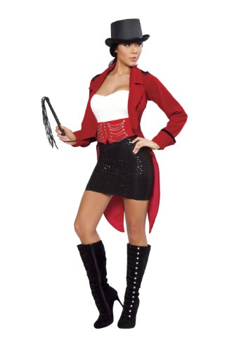 Whips And Chains Costume (Roma Costume Deluxe 6 Piece Ringmaster Costume, Red/Black, Medium/Large)