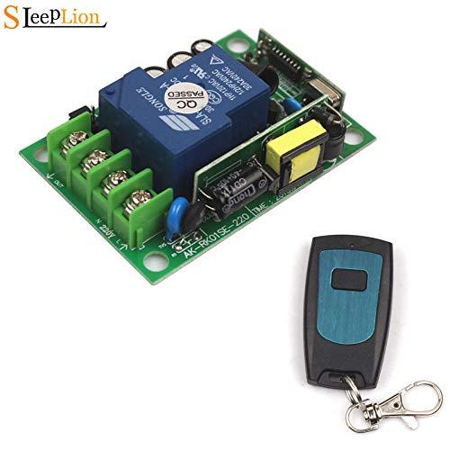 315MHz Sleeplion 30A AC 220V 110V 1 CH Relay ON Off Wireless Remote Switch Transmitter+Receiver 85V250V Wireless Switch 315 433 MHz  (color  315MHz)
