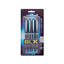 Uni-ball Vision Elite BLX Series Stick Micro Point 4 Rollerball Pens, Colored Ink Pens (1832409)