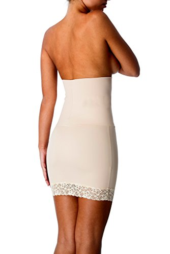Lace Shaper Firm White - CoverGirl Shapewear Firm Control Half Slip Shaper with Lace Seamless & Breathable Halfslip Dress for Women (M,Nude)