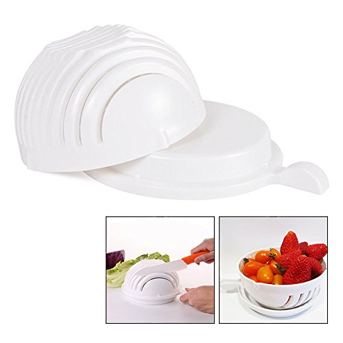 Itian Salad Maker Bowl Fruit And Vegetable Salad Cutter Slicers Bowl To Make Fresh Salad Slicers
