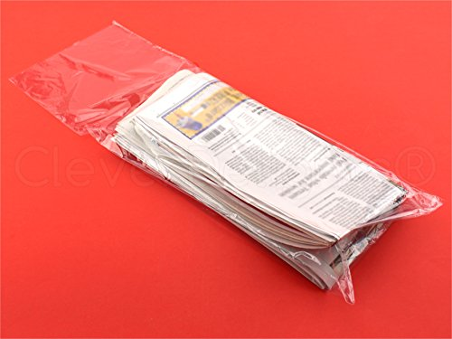 100 Pack - CleverDelights Newspaper Bags - 7.5
