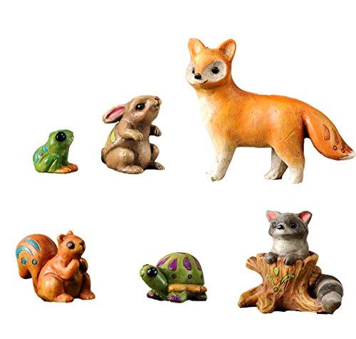 Fairy Garden 6 Piece Wild Animal Set