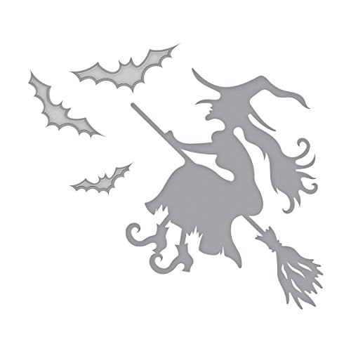 Spellbinders Shapeabilities Witch on Broom Etched/Wafer Thin Dies by Spellbinders