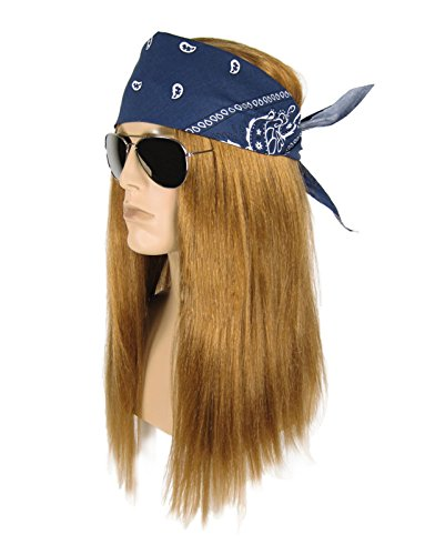 Largemouth Men's Heavy Metal Rocker Costume Kit (One Size) (Rockstar Costumes)
