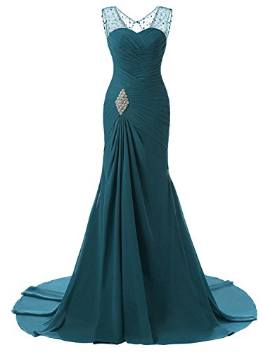 b2075be4d43 Lily Wedding Womens Mermaid Prom Bridesmaid Dresses 2018 Long Evening Formal  Party Ball Gowns FED003 Teal