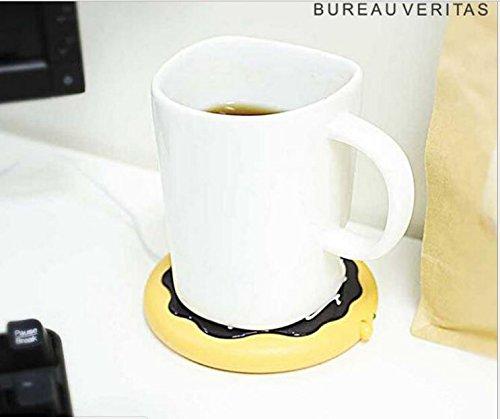 [해외]데스크탑 USB 가열 커피 찻잔 따뜻하게 도넛 모양 절연 코스터/Desktop USB Heated Coffee   Tea Mug Warmer donut shape insulation coaster