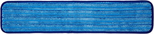AmazonBasics Microfiber Damp Mop with Stripes - 24-Inch, 12-Pack