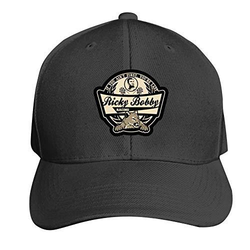 UdlJud Ricky Bobby Racing Casual Baseball Cap Adjustable Mesh Hats Trucker Cap for Men Women Black