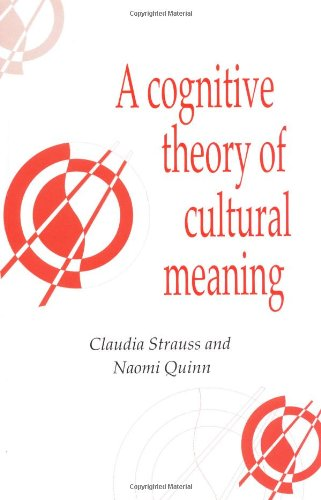 A Cognitive Theory Of Cultural Meaning (Publications Of The Society For Psychological Anthropology)