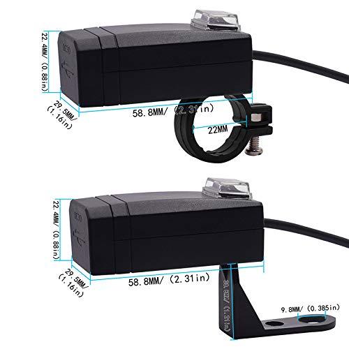 YGL Universale Caricabatterie moto USB QC3.0 Ricarica Rapida Doppia USB Adattatore di Alimentazione 12V