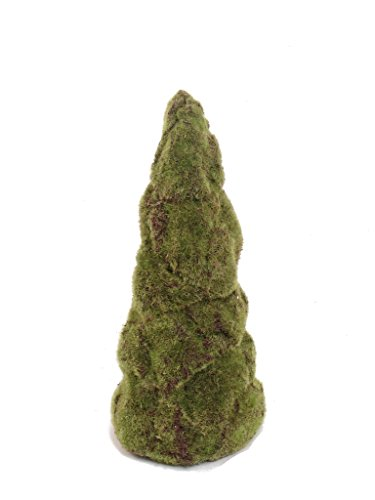 6 Hanford Design 15'' Decorative Artificial Moss Cone Topiary for Indoor Outdoor- 3 Sizes Available by Larksilk
