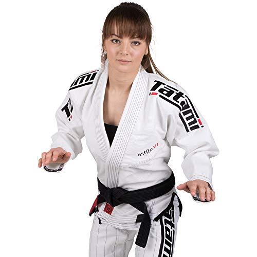 (TATAMI Women's Estilo 6.0 Premier Brazilian Jiu Jitsu BJJ Gi - White-Black - F2)