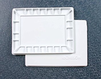 (Jack Richeson 22 Wells Plastic Palette with Cover, 16 by 12-Inch)