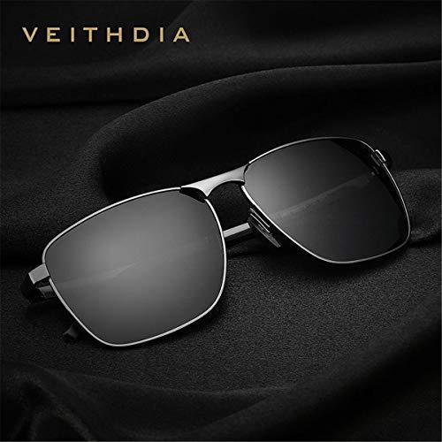 de Marca la Hombres Lente Sol Gafas cuadradas C de la Sol KOMNY Accesorios los UV400 Masculinas Mujeres la para de Hombres polarizadas de de Vendimia de A Gafas Lentes Tzq7Bxw0BX
