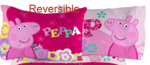 Peppa Pig Reversible Pillow Case Standard Size Microfiber 20