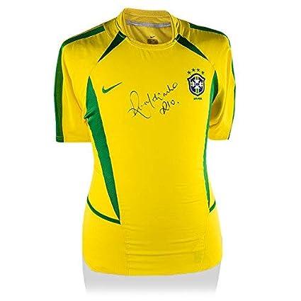 premium selection 24139 5e333 Ronaldinho Front Signed Brazil 2002 at Amazon's Sports ...