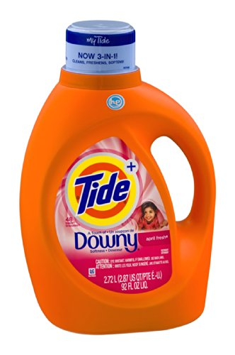 Tide + A Touch of Downy Laundry Detergent April Fresh 92 OZ (Pack of 4) by Tide