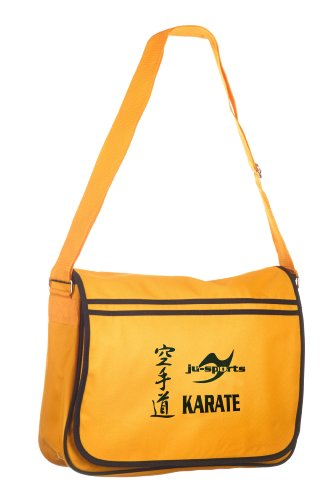 Retro Messenger Bag gold/schwarz Karate lLHj3z