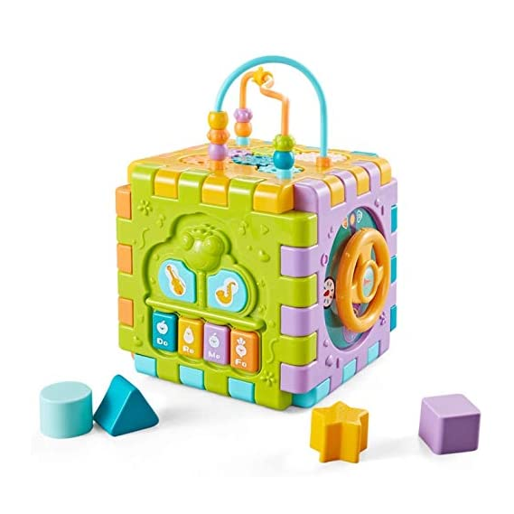 ITAPALJI Activity Cube Multipurpose Play Centre for Toddlers and Kids, Skill Improvement Educational Game Toys, Busy