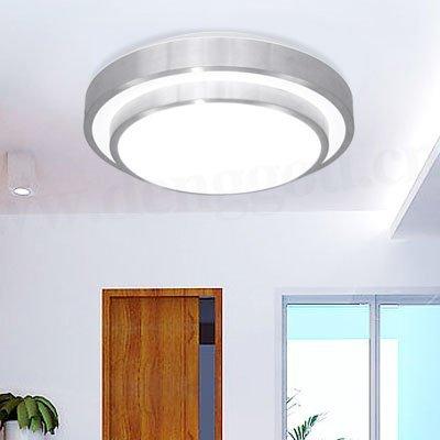 FXING LED-Decke Leuchte Pendelleuchte für Esszimmer Bad Schlafzimmer Flur Küche Aluminium 40 cm
