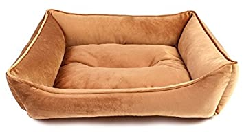 Akida - Cojín tipo donut, cama para perro rectangular, sofá para perro, cama