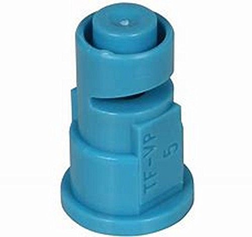 TeeJet TF-VP5 Turbo Floodjet Spray Tip, 0.50-1.00 GPM, 10-40 psi, Polymer - Blue ()
