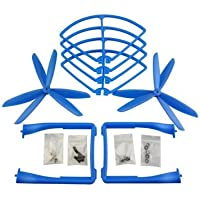 UUMART Propeller+Prop Guard+Landing Skid for Syma X8C X8W X8G X8HW RC Quadcopter Spare Parts Upgrade 3-Blade Propeller-Blue