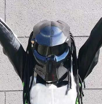 プレデター ヘルメット カーボン バイクツーリング ハロウィン コスプレ アイアンマン スパイダーマン